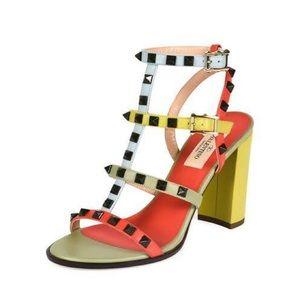 Valentino NIB Rock Stud T-Strap Sandals Abo 36.5
